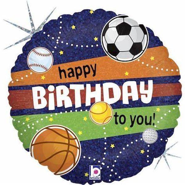 "Ballon Sports ""Happy Birthday"" 45 cm Grabo déco fête anniversaire football"