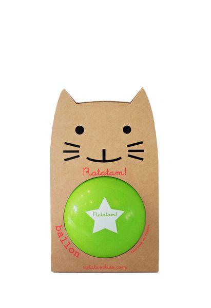 Ballon Vert 15 cm Ratatam! balle increvable cool