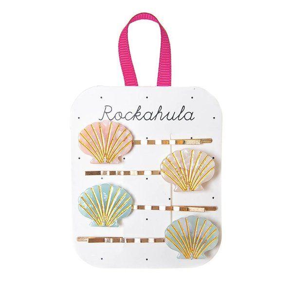 Barrettes Coquillage acrylic Pastel x4 Rockahula Kids accessoire beauté pour enfant