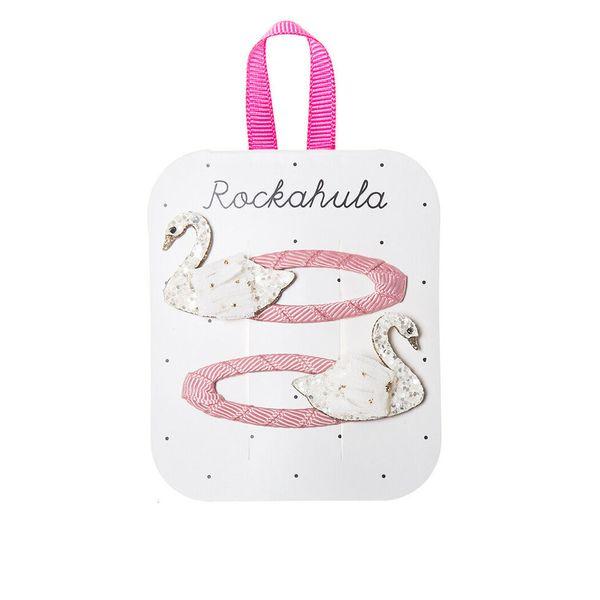 Barrettes Cygne scintillant x2 Rockahula Kids accessoire enfant beauté