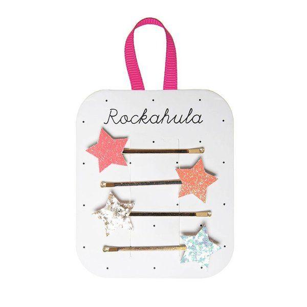 Barrettes Etoiles scintillantes x4 Rockahula Kids accessoire beauté pour enfant