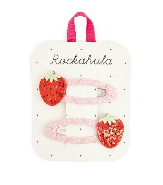 Barrettes Fraise scintillante x2 Rockahula Kids accessoire beauté pour enfant