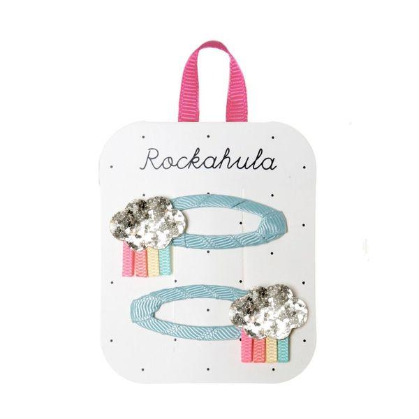 Barrettes Nuage Scintillant Rainbow x2 Rockahula Kids accessoire enfant