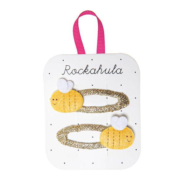 Barrettes scintillantes Abeille x2 Rockahula Kids accessoire beauté pour enfant