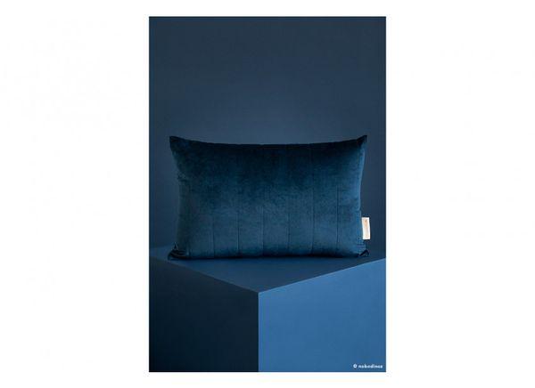 Coussin en velours Akamba - Night Blue - Nobodinoz