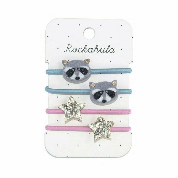Élastiques Raton Laveur et étoiles scintillantes x4 Rockahula Kids accessoire beauté pour enfant