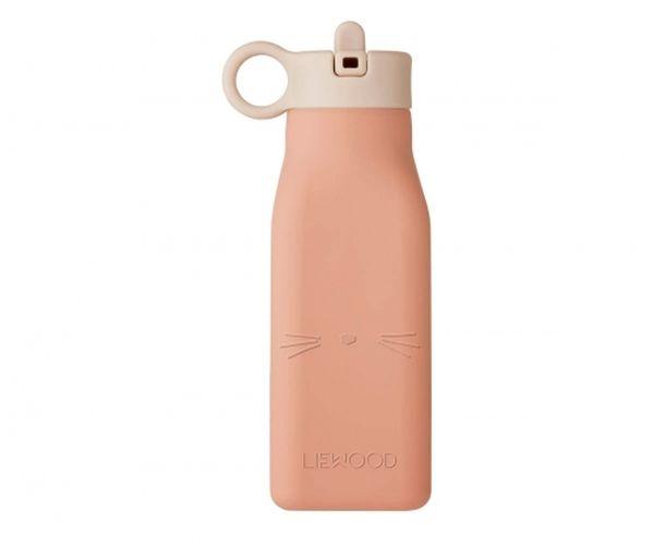 Gourde à eau en silicone Warren - Cat Tuscany Rose - Liewood