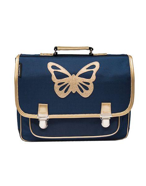 Grand Cartable papillon Bleu - Caramel & Cie