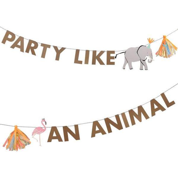 Grande Guirlande Animaux Safari Meri Meri jungle deco anniversaire cool kids fun animal savane