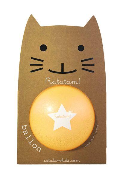 Ballon Orange Summer paillettes 22 cm Ratatam! balle increvable enfant cool