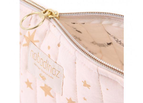 Petite Trousse de voyage Gold Stella Dream Pink Nobodinoz cadeau de naissance enfant bébé tendance
