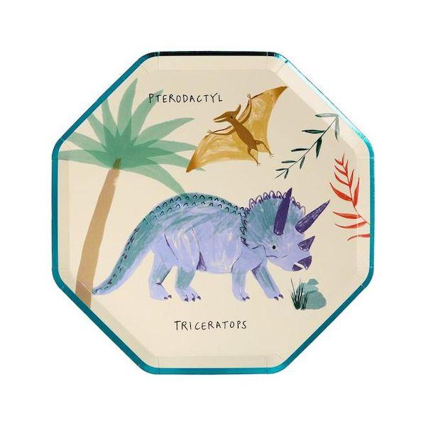 Petites Assiettes Dinosaure assorties Meri Meri cool kids fun anniversaire