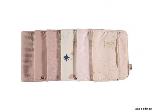 Protège carnet de santé Poema Gold Stella Dream Pink Nobodinoz cadeau de naissance enfance tendance