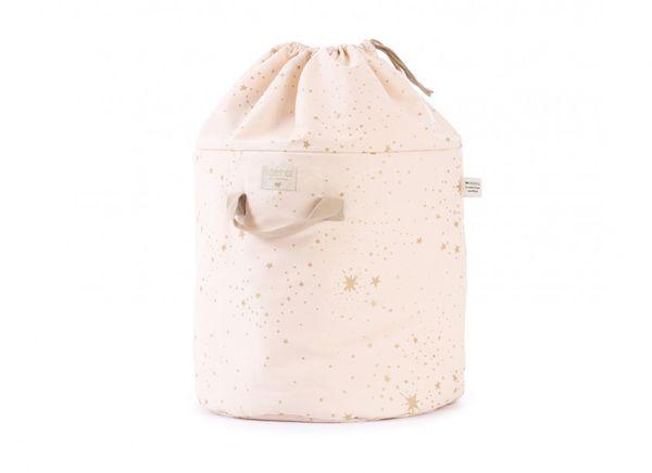 Sac à jouets Bamboo Large - Gold Stella Dream Pink Nobodinoz cadeau de naissance rangement enfant bébé tendance