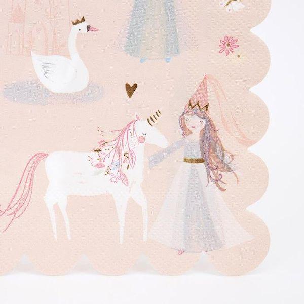 Serviettes Princesse Meri Meri magique fée arc en ciel