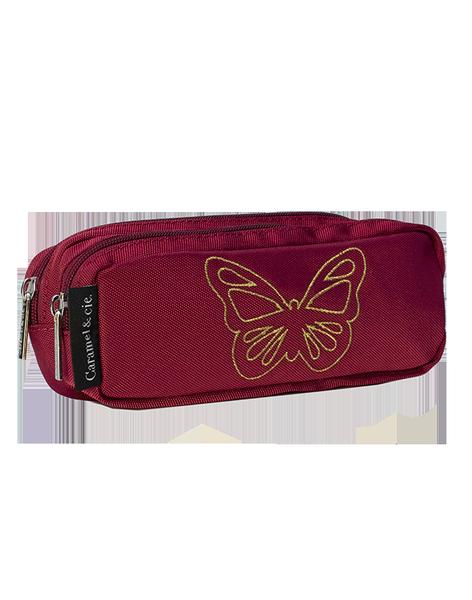 Trousse double Papillon rubis - Caramel & Cie