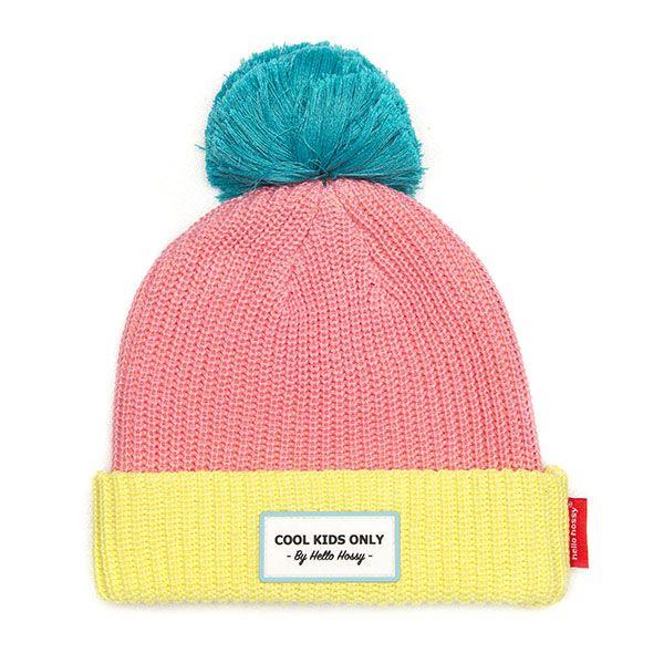bonnet block pink hello hossy