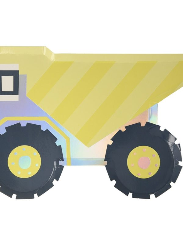Assiettes camion benne x8 Meri Meri décoration fête anniversaire chantier
