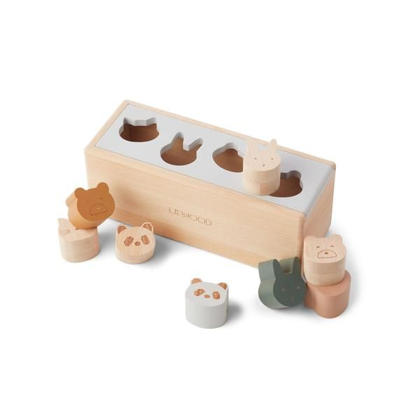 Boîte à formes Midas Classic Mix Liewood jouet en bois éveil tendance