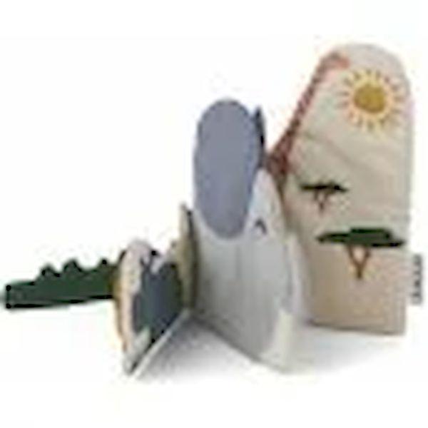 Livre d'éveil en tissu Bio Safari Liewood accessoire enfant cadeau de naissance tendance éveil