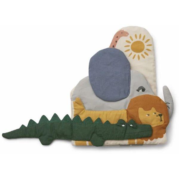 Livre d'éveil en tissu Bio Safari Liewood accessoire enfant cadeau de naissance tendance