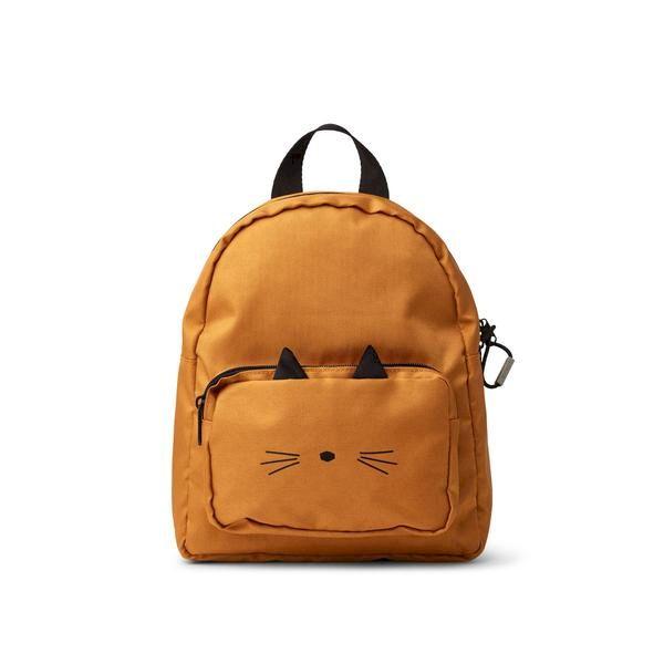 Sac à dos Allan Cat Mustard Liewood accessoire enfant tendance confort