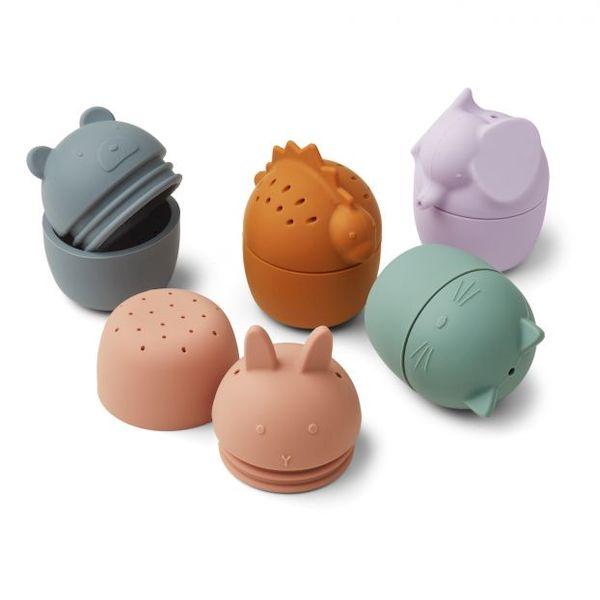 Set de 5 jouets de Bain Gaby Multi Mix Liewood jouet de bain enfant