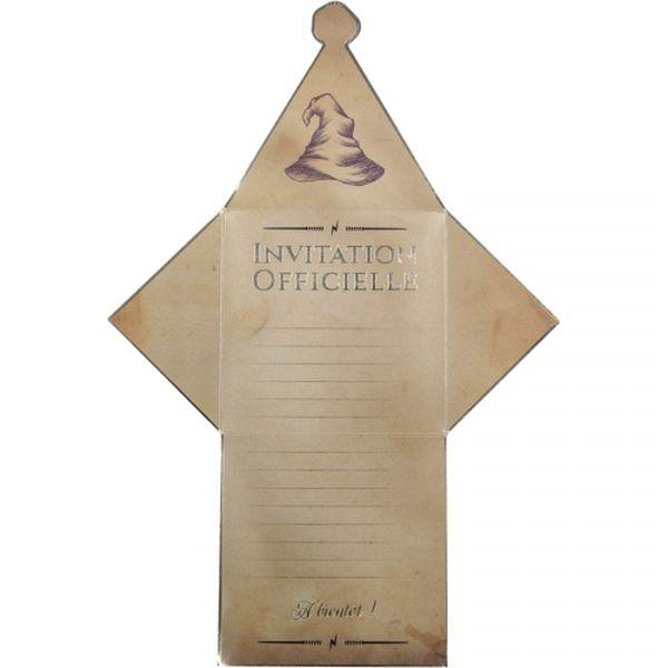 Set de 8 Invitations Enveloppes Apprenti Sorcier anniversaire fête magie