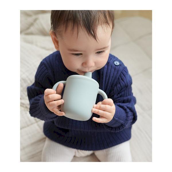 Tasse d'apprentissage en Silicone Neil Dove Blue Liewood accessoire enfant tendance