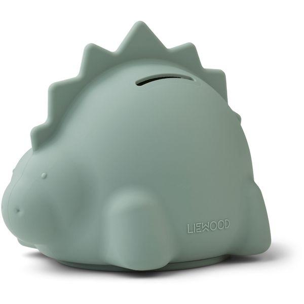 Tirelire Palma Dino Peppermint Liewood accessoire enfant tendance silicone