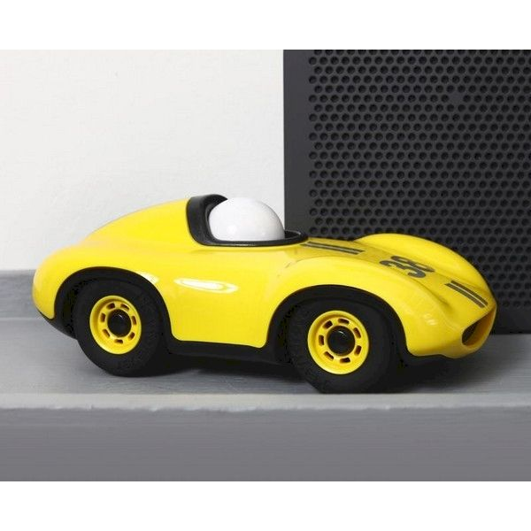 Voiture Speedy Le Mans Jaune Playforever voiture miniature idée cadeau