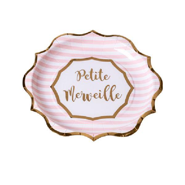 """Assiettes """"petite merveille"""""""
