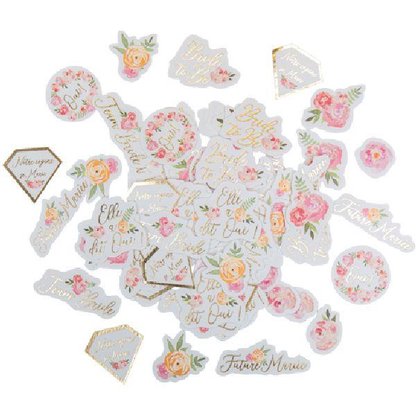confettis evjf fleurs