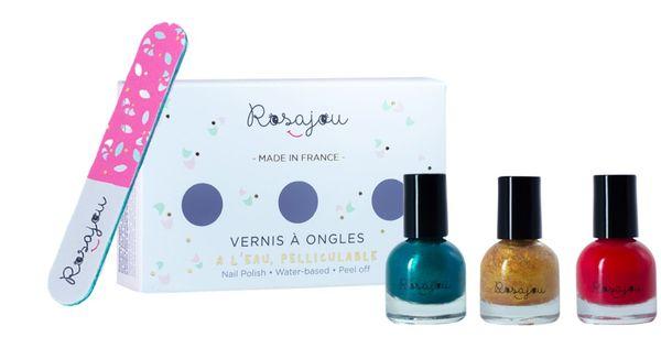 coffret 3 vernis Paon+ Madame+chéri rosajou