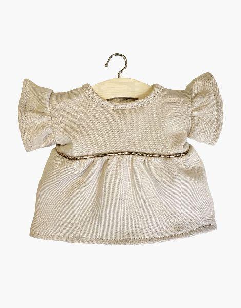 Robe Daisy en Molleton Lin- Minikane tenue poupée minikane vetement
