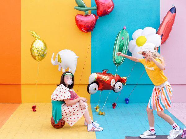 ballon hélium éléphant blac et doré