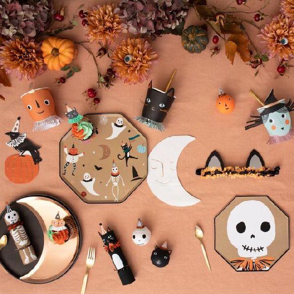 décoration Assiettes vintages Halloween meri meri