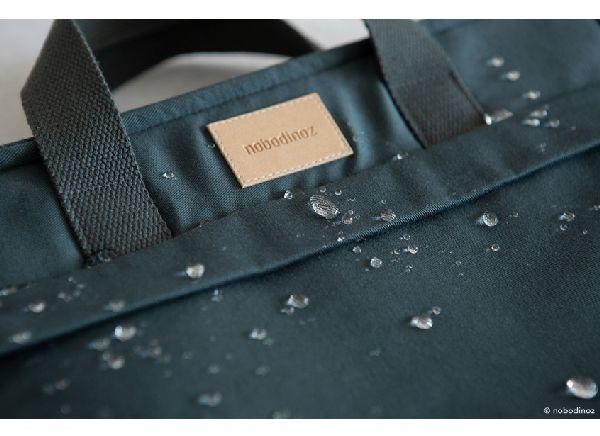 Sac à dos à langer carbon blue imperméable nobodinoz