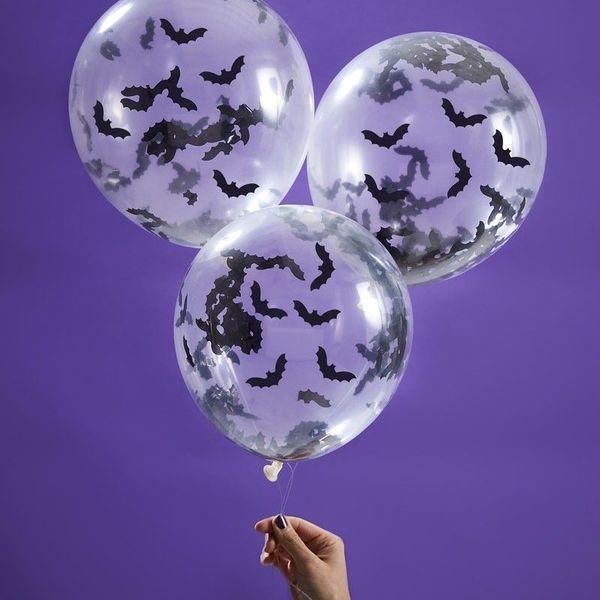Ballon confettis bat halloween