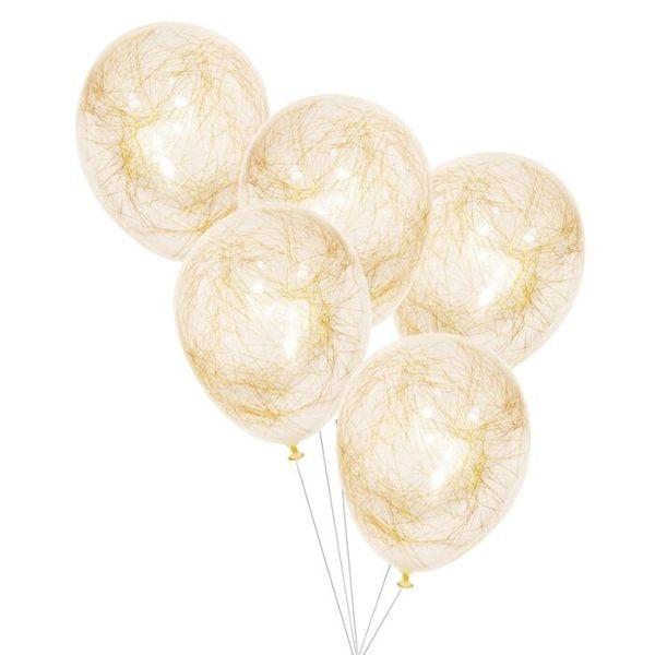 Ballon confettis cheveux d'ange gold