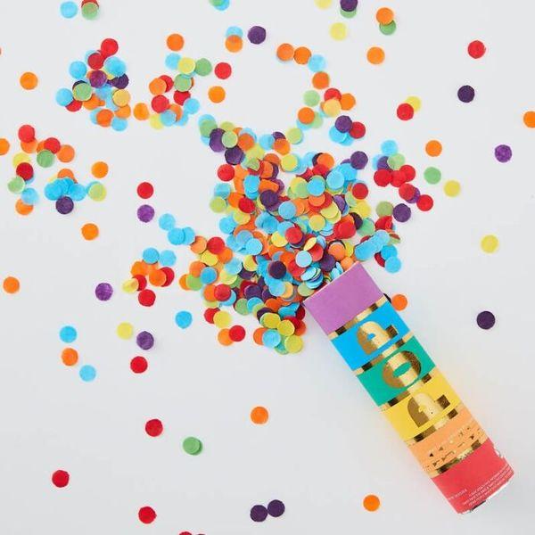 Canon à confettis rainbow multicolore