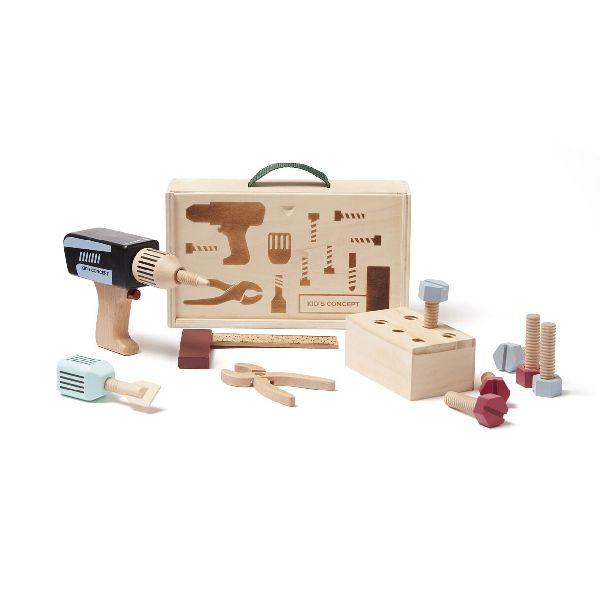 Malette à outils en bois kid's concept