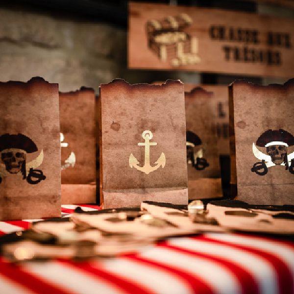 sachets pirate kraft et or