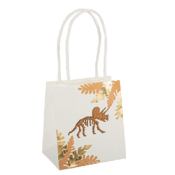 sac cadeau dinosaure camel et or