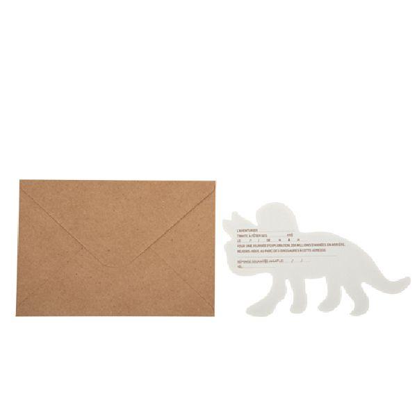 Invitation dinosaure liège + enveloppe