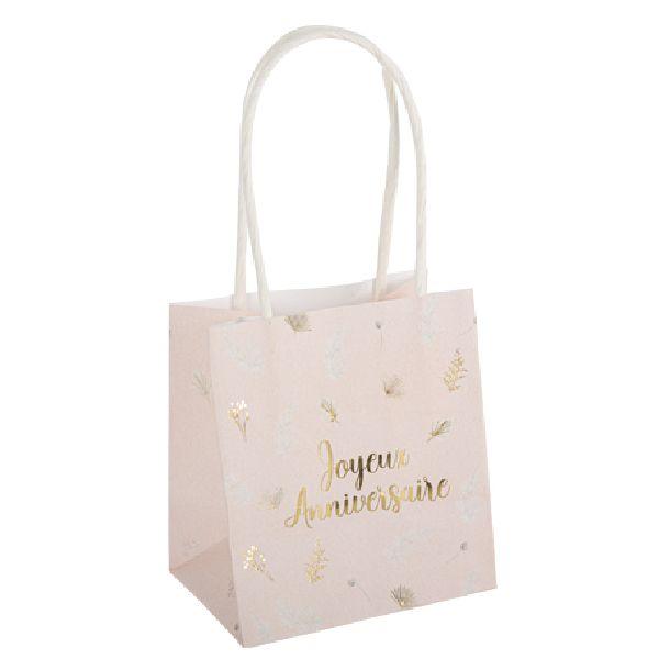 "sacs boho ""joyeux anniversaire"" blush et or"