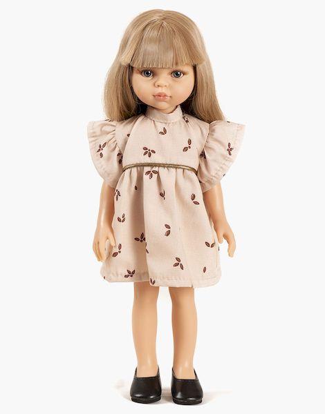Carla et sa robe Daisy courte Végétal - las amigas poupée minikane