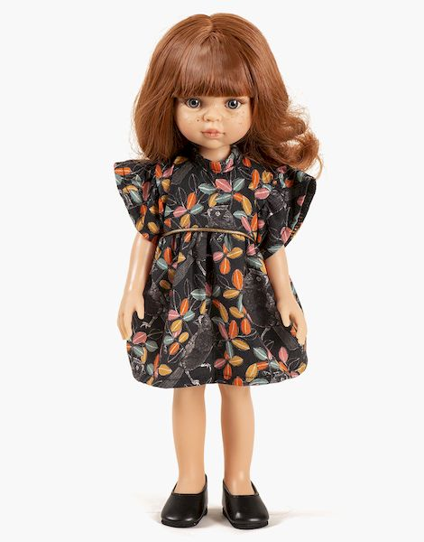 Christi et sa robe Daisy courte Mésanges - Las amigas poupée minikane