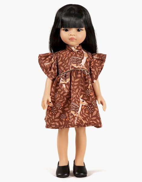 Liu et sa robe Daisy courte Faline - Las Amigas poupée minikane