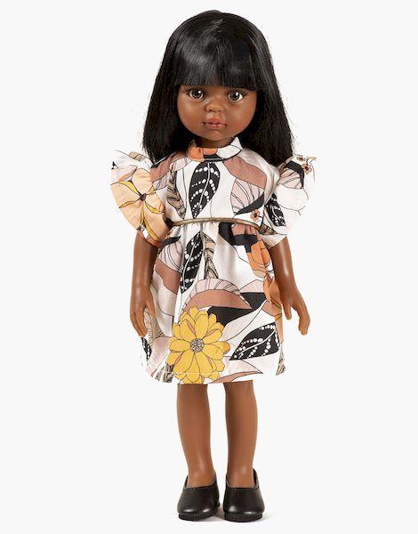 Nora et sa robe Daisy courte Narcisse - Las amigas poupée minikane